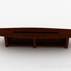 现代风格长方形多人会议桌3d模型下载