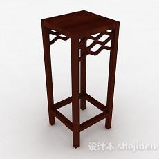 中式木质花架3d模型下载