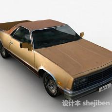 棕色汽车3d模型下载