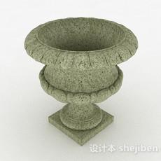 园林石质装饰花钵3d模型下载