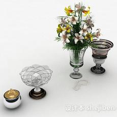 家居玻璃制品花瓶3d模型下载