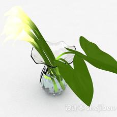 广口玻璃花瓶3d模型下载