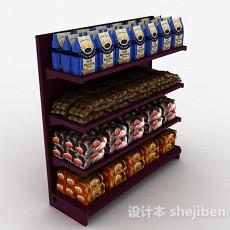 酒红色木质产品展示架3d模型下载