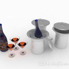 酒瓶3d模型下载