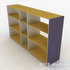 暖黄色文件置物架3d模型下载