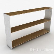 棕色简约家居鞋柜3d模型下载