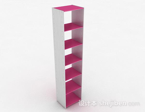 粉红色多层展示柜
