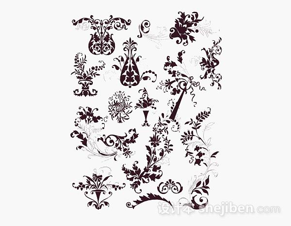 现代风格花卉图案壁纸