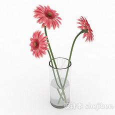 粉色花朵家居花卉摆设3d模型下载