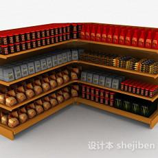 超市食物展示台3d模型下载