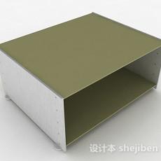 绿色简约鞋柜3d模型下载