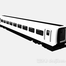 黑白色火车车厢3d模型下载