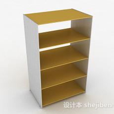 鹅黄色厨房置物架3d模型下载