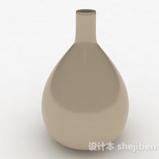 浅棕色大肚陶瓷花瓶3d模型下载
