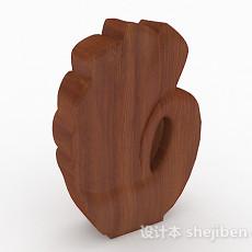 棕色木质雕刻摆设品3d模型下载
