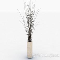米色陶瓷花瓶3d模型下载