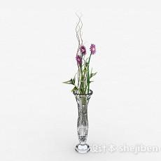 家居广口玻璃花瓶摆件3d模型下载