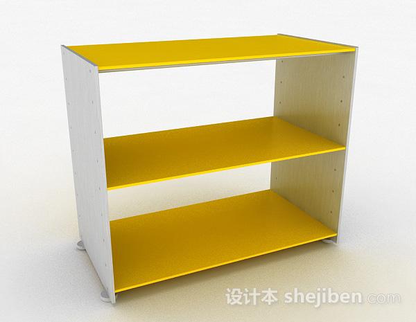 黄色简约三层鞋柜
