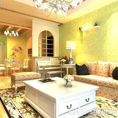 田园风格客厅整体3d模型下载