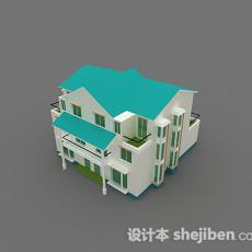 绿色小公寓3d模型下载