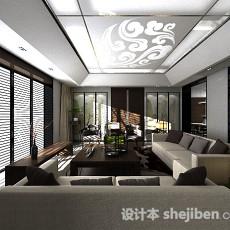 客厅落地窗3d模型下载