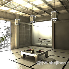 家装日式3d模型下载