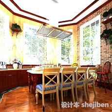 别墅厨房3d模型下载