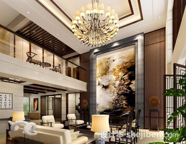 复式中式客厅模型
