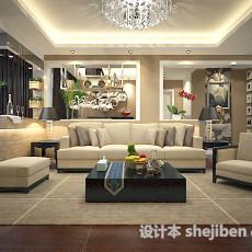 家装混搭客厅3d模型下载