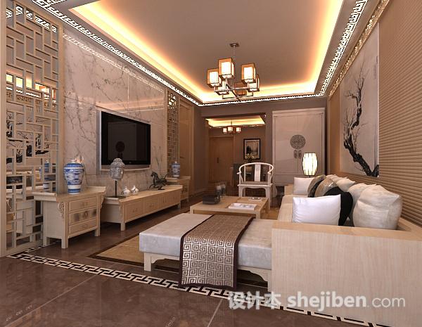 中式风格客厅吊顶