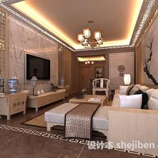 中式风格客厅吊顶3d模型下载