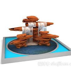 园林假山3d模型下载