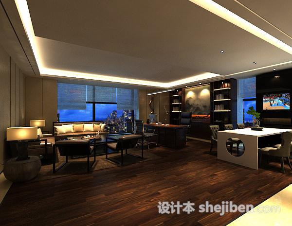 3d室内客厅餐厅整体模型