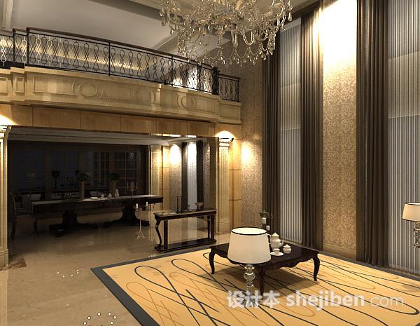 欧式客厅复式楼