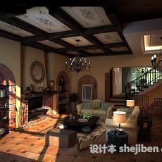 田园客厅3d模型下载