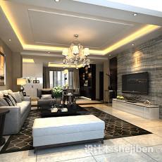 家装客厅3d模型下载