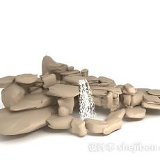 假山喷泉3d模型下载