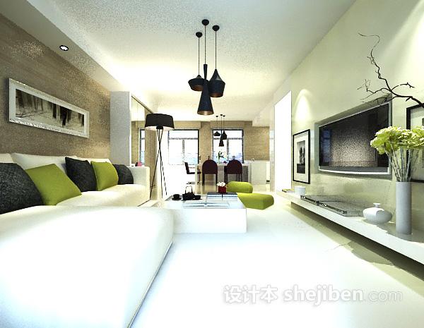 简约客厅地毯模型