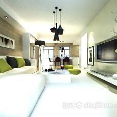 简约客厅地毯3d模型下载