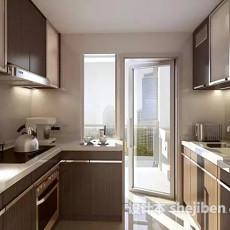 整体厨房场景3d模型下载