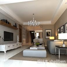 现代简约客厅挂画3d模型下载
