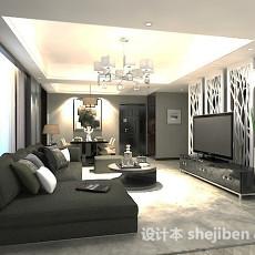 家装客厅隔断3d模型下载