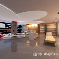鞋店展厅3d模型下载