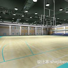 室内篮球馆3d模型下载