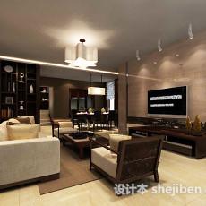 新中式客厅博古架3d模型下载