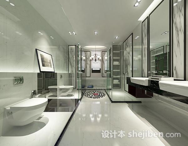 卫生间玻璃门模型下载