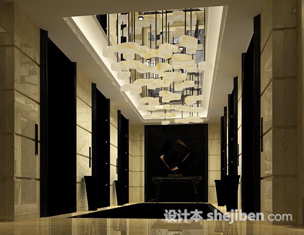 电梯走廊3d模型