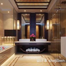 卫生间木格栅天花板3d模型下载