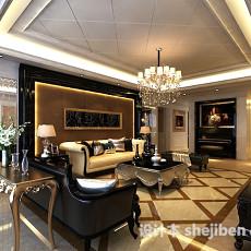 欧式客厅水晶吊灯3d模型下载