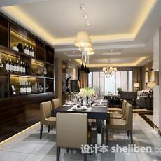 餐厅酒柜3d模型下载